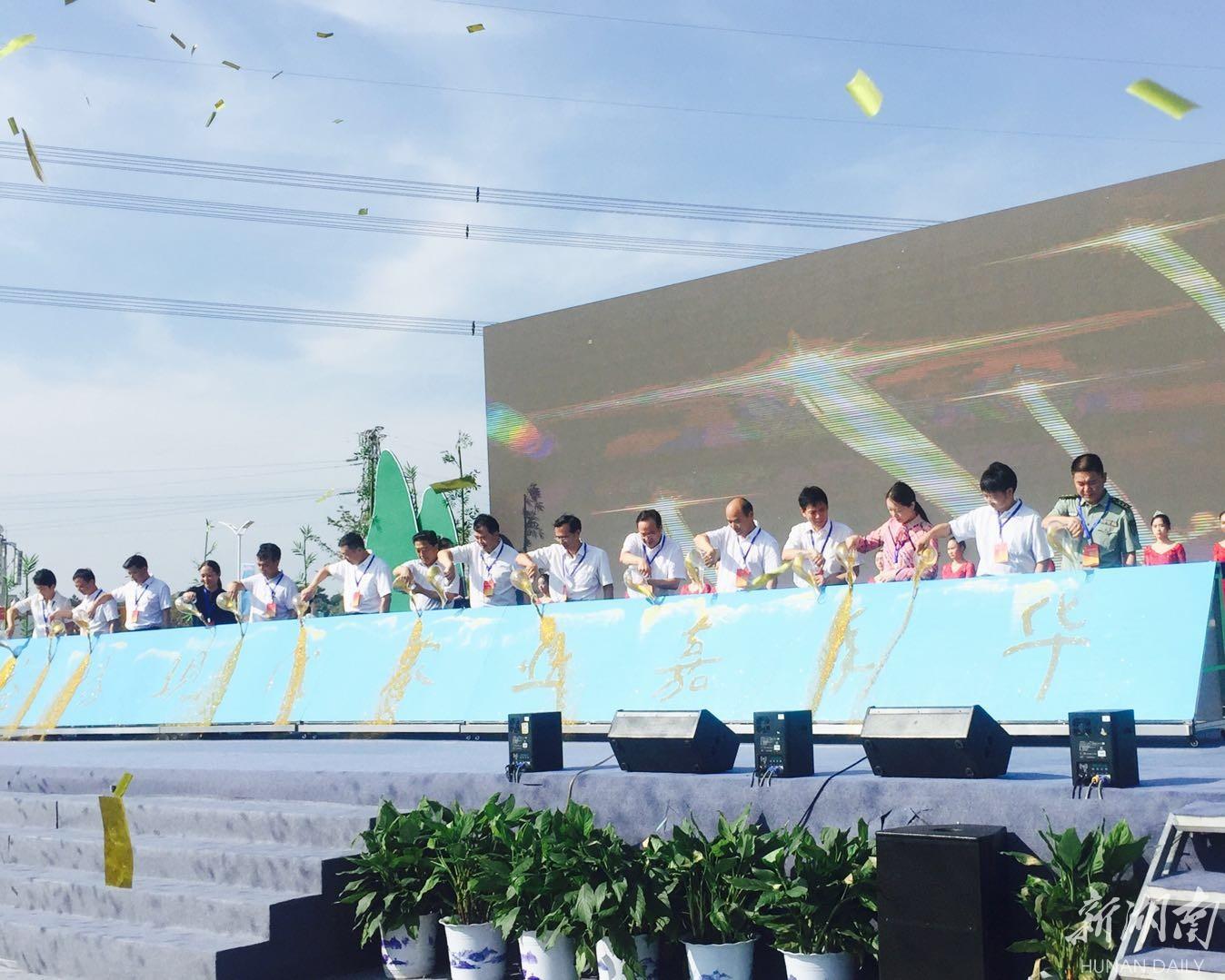 据了解,益阳现代农业嘉年华项目位于赫山区沧水铺镇碧云峰村,由赫山